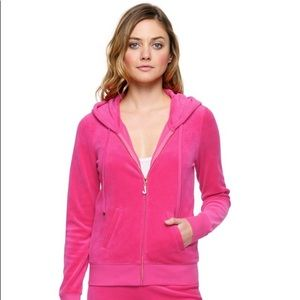 Juicy Couture J Bling Pink Velour Hoodie
